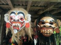 colorful hand carved masks