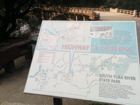 informational sign post yuba river california