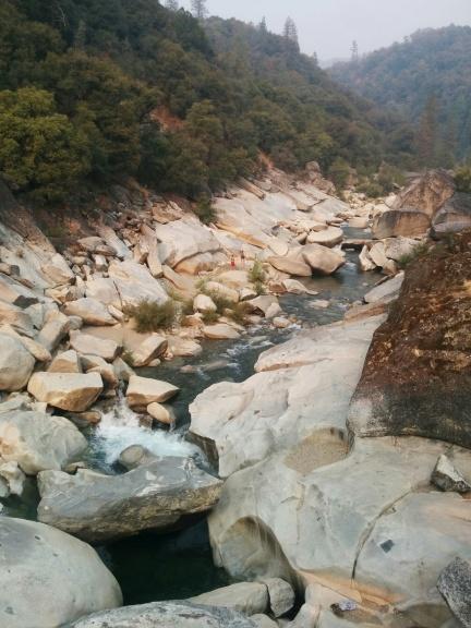 Rocks and stream Yuba River Gorge California