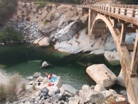 Rainbow bridge over the Yuba River California