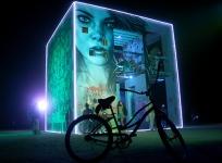 Burning man art installation