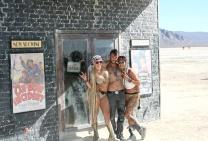 Group shot of friends at Burning man 2015