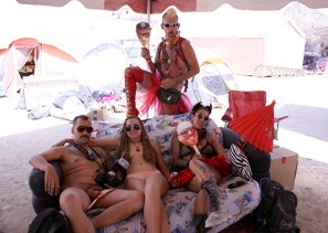 A burning man group photo