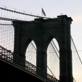 Silhouette of the Brooklyn Bridge