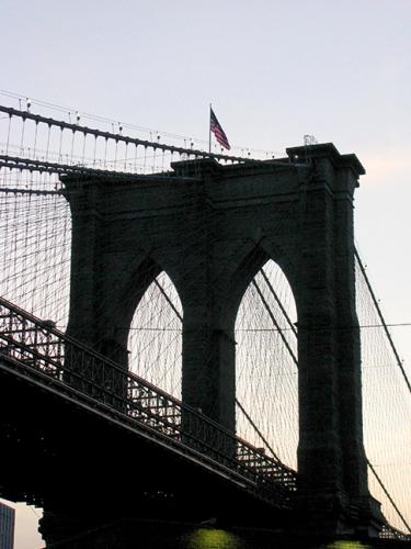 Silhouette of the Brooklyn Bridge