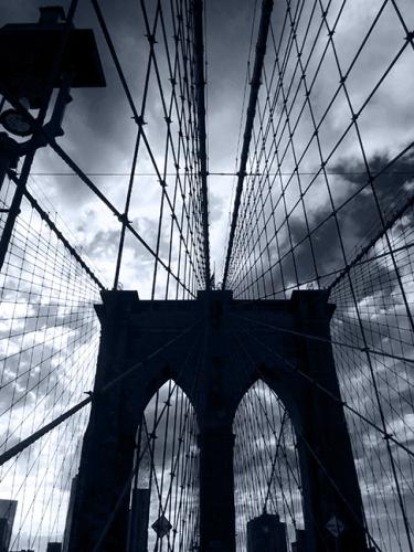 The Brooklyn Bridge arch