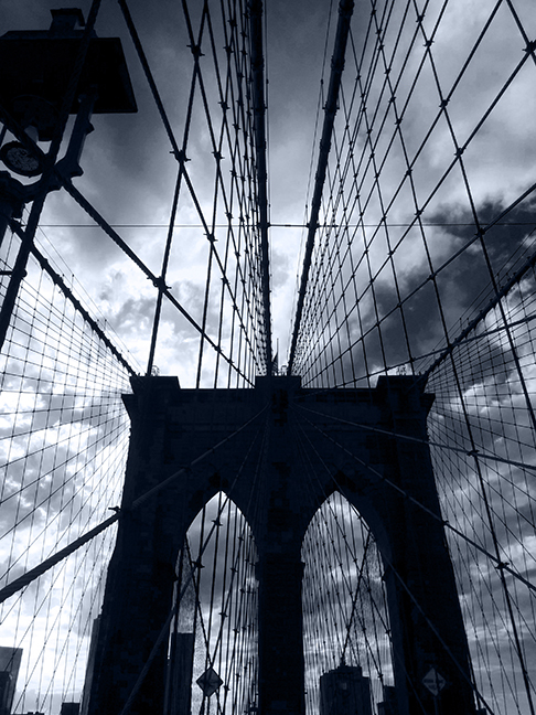 The Brooklyn Bridge arch