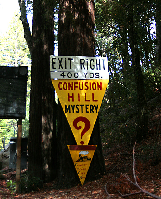 A sign that reads: confusion hill