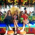 Girls in Coney Island amusement park