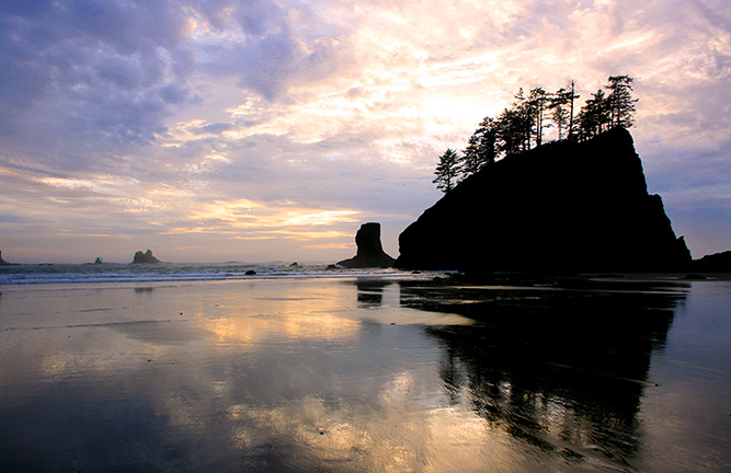 Sunset, La Push Beach, Olympic National Park, Washington