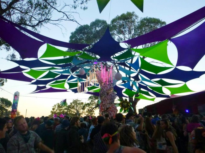 stage at Rainbow Serpent