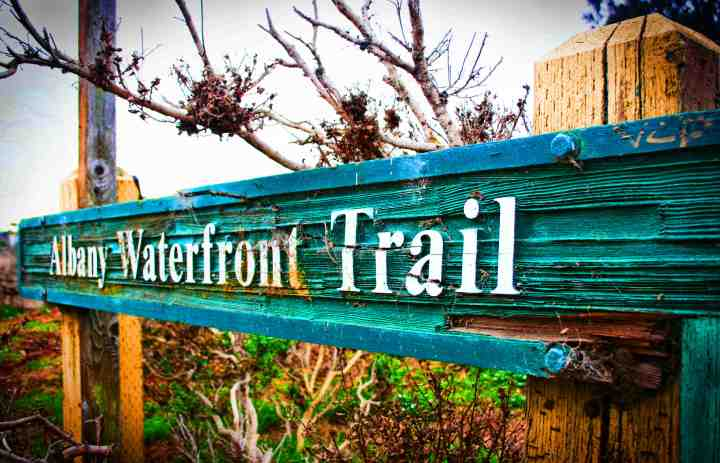 Albany waterfront trail sign