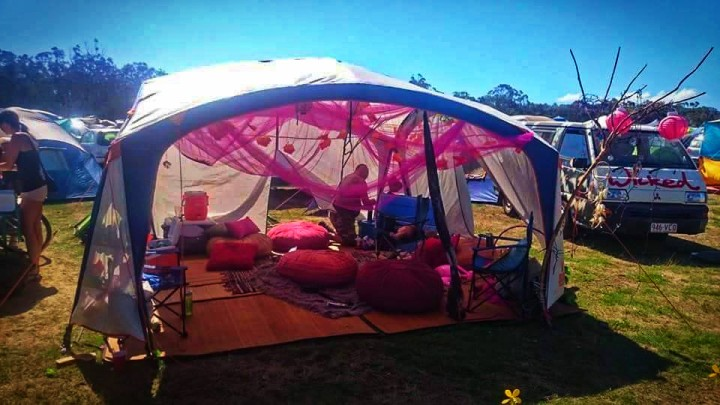 hippy camp site rainbow serpent festival