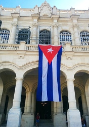 The entrance of the Museum, in what was the Presidential Palace for all Cuban Presidents